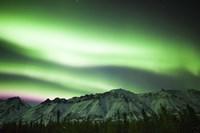 Bright Aurora Borealis over Annie Lake Fine Art Print
