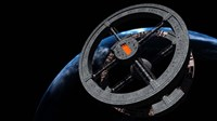 Space Station 5 in Earth Orbit Fine Art Print