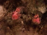 Eagle Nebula and Swan Nebula Fine Art Print