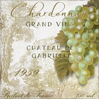 Grand Vin Chardonnay Framed Print