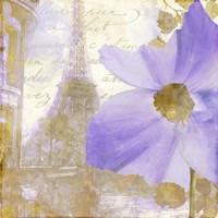 Purple Paris I Framed Print