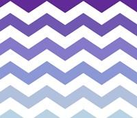 Purple-Blue Chevron Framed Print