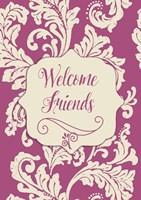 Welcome Flag Pink Framed Print
