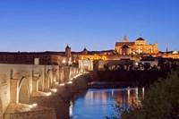 Roman Bridge, Catedral Mosque of Cordoba, Cordoba, Andalucia, Spain Fine Art Print