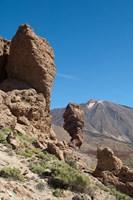 Spain, Tenerife, Las Canadas, Volcanic rock Fine Art Print