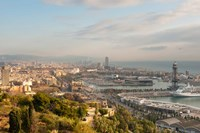View of Barcelona from Mirador del Alcade, Barcelona, Spain Fine Art Print