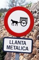 Spain, Majorca, Road Sign Fine Art Print
