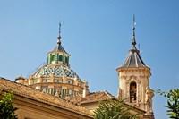 Dome and bell tower of the Iglesia de San Juan de Dios, Granada, Spain Fine Art Print
