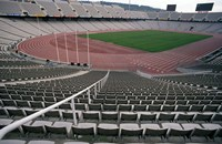 Olympic Stadium, Barcelona, Spain Fine Art Print