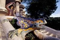 Lizard Mosaic in Parc Guell, Barcelona, Spain Fine Art Print