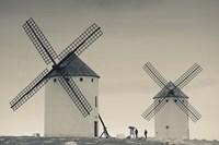 La Mancha Windmills, Campo de Criptana, Castile-La Mancha Region, Spain Fine Art Print