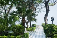 Park in Cadiz, Spain, Europe Fine Art Print