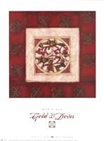 Gold & Doves II Fine Art Print