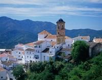 White Village of Algatocin, Andalusia, Spain Fine Art Print