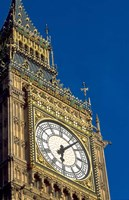 Big Ben Clock Tower on Parliament Building in London, England Fine Art Print