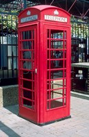 Red Telephone Booth, London, England Fine Art Print