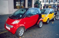 Smart Cars, London, England Fine Art Print