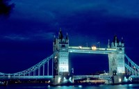 Tower Bridge Spanning the River Thames in London, England Fine Art Print