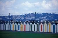 Beach Huts of Paignton, Devon, England Fine Art Print