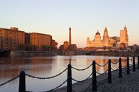 Liver Building from Albert Dock, Liverpool, Merseyside, England Fine Art Print