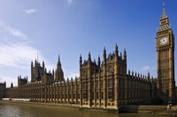 UK, London, Big Ben and Houses of Parliament Fine Art Print