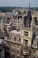 Roofs of Cambridge Univertisy, Cambridge, England Fine Art Print