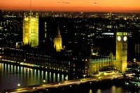 Big Ben and the Houses of Parliament at Dusk, London, England Fine Art Print
