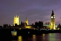 Big Ben and the Houses of Parliament at Night, London, England Fine Art Print