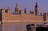Parliament and Big Ben, London, England Fine Art Print