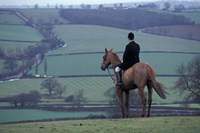 Man on horse, Leicestershire, England Fine Art Print