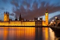 Houses of Parliament, Big Ben, London, England Fine Art Print