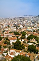 Crowded City of Athens, Greece Fine Art Print