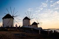 Famous Windmills, Hora, Mykonos, Greece Fine Art Print