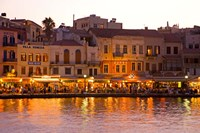 The Old Harbor, Chania, Crete, Greece Fine Art Print