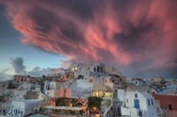 Sunset over Oia, Santorini, Greece Fine Art Print