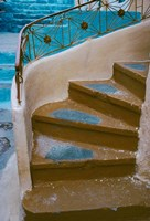 Curved Stairway in Athens, Greece Fine Art Print