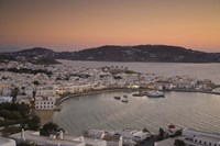 Just After Sunset, Hora, Mykonos, Greece Fine Art Print