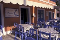 Outdoor Restaurant, Kefallonia, Ionian Islands, Greece Fine Art Print