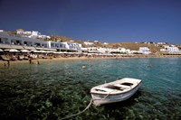 Platis Gialos Beach, Mykonos, Cyclades Islands, Greece Fine Art Print