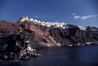 Village of Ia From Ferry, Santorini, Greece Fine Art Print