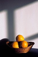 Oia, Santorini, Greece, Oranges in a Basket Fine Art Print