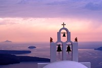 Belltower at Sunrise, Mykonos, Greece Fine Art Print
