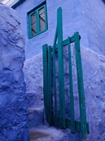 Green Gate on Kalymnos Island, Dodecanese Islands, Greece Fine Art Print