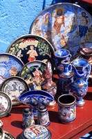 Artwork and Plates of Artists, Athens, Greece Fine Art Print