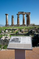 Greece, Corinth Doric Temple of Apollo Framed Print
