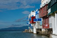 Greece, Cyclades, Mykonos, Hora 'Little Venice' area Fine Art Print