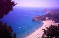 Beach at Tsambika from the Monastery, Rhodes, Dodecanese Islands, Greece Fine Art Print