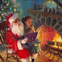 Santa Christmas Story Fine Art Print
