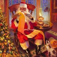 Santa Christmas List Fine Art Print
