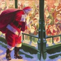 Santa An Unforeseen Encounter Fine Art Print